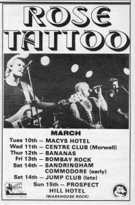 Rose Tattoo gig advert 1981-LoRes